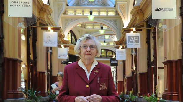 Beth Jackson, 91: guide at the Block Arcade for 30 years.