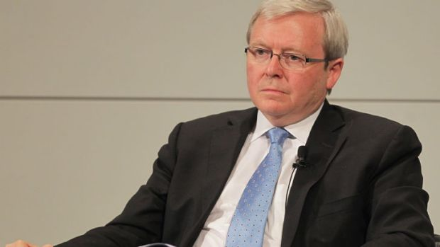 After midnight ... Kevin Rudd.