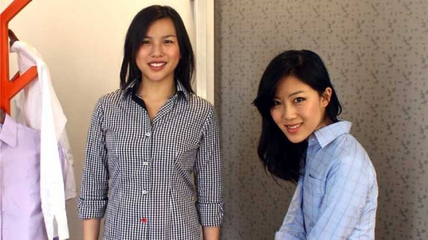 Melissa Lee (left) with co-founder Modi Song.