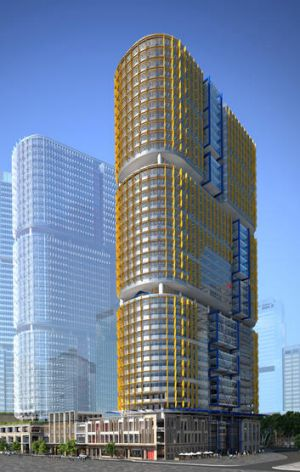 An artist's impression of Barangaroo Commercial Building C5.