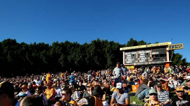 Members only … Leichhardt Oval's nostalgia, coupled with a sunny Sunday afternoon, generally means a packed house ...