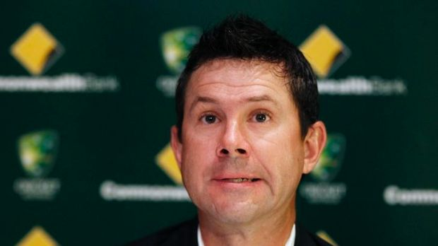 Australian cricket player Ricky Ponting announces his intention to continue to play Test cricket during a news ...