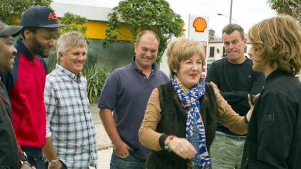 2012 ... Margaret Neale meets her rescuers.