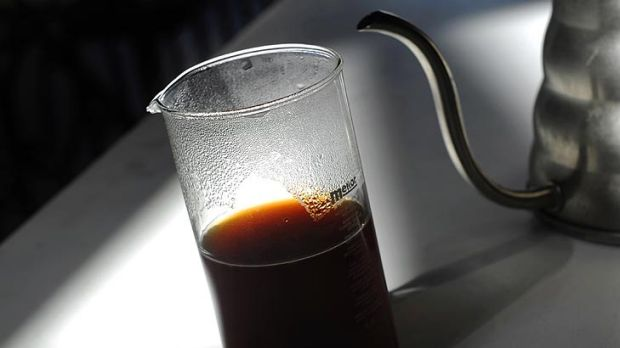 New wave ... A siphon brewed coffee served at Auction Rooms.