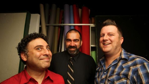 The <i>Boxcutters</i> team, which includes (from left) Josh Kinal, John Richards and Glenn Peters, are the first ...