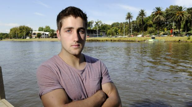 Bar worker David Brearley, 22, rescued an Irish tourist from the Yarra.