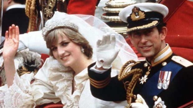 The beginning ... Diana, Princess of Wales, and Prince Charles.