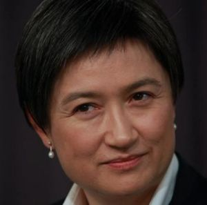 Finance Minister Senator Penny Wong addressing the National Press Club this month.