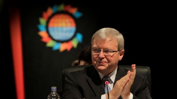 Kevin Rudd... the diplomat