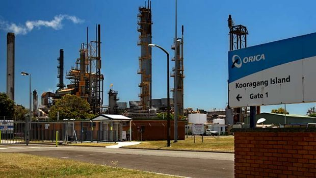 Orica plant ... the suburb of Stockton, near Newcastle, was sprayed with a small amount of hexavalent chromium.