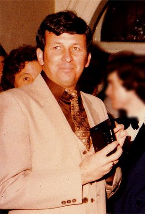 Dennis McKenna at a Deb Ball in Katanning in July 1983.