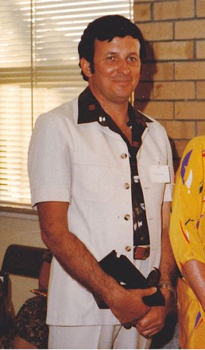 Dennis McKenna on the day he was awarded Citizen of the Year in Katanning in January 1984.