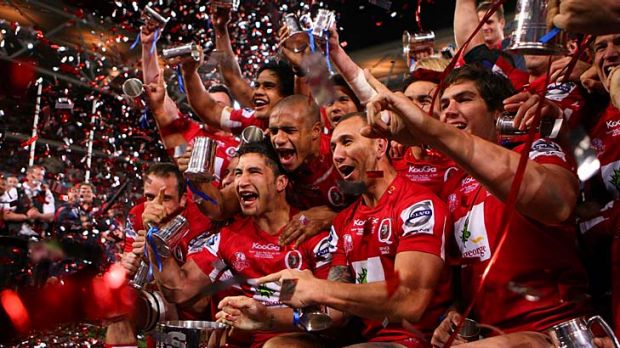 The Queensland Reds celebrate their victory in the 2011 Super Rugby grand final. The Age union expert Stathi Paxinos ...