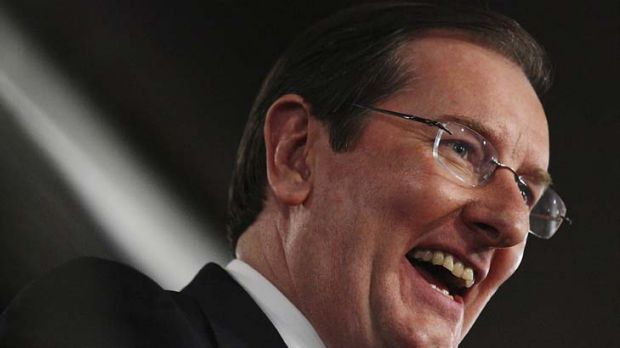 Much to smile about ... Brian Loughnane, federal director for the Liberal Party.