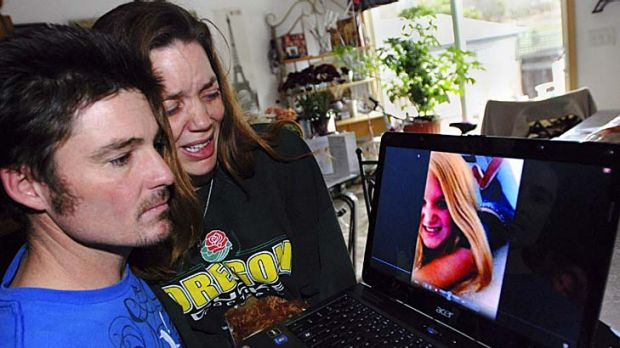 Helium death ... Justin Earp says the death of his stepdaughter Ashley Long, pictured on the laptop, was down to peer ...