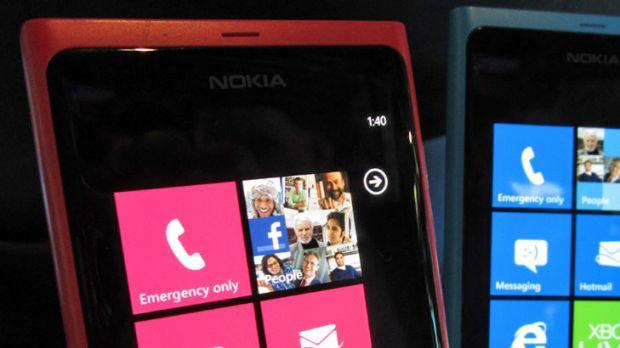 Nokia Lumia 800 running Windows Phone 7.