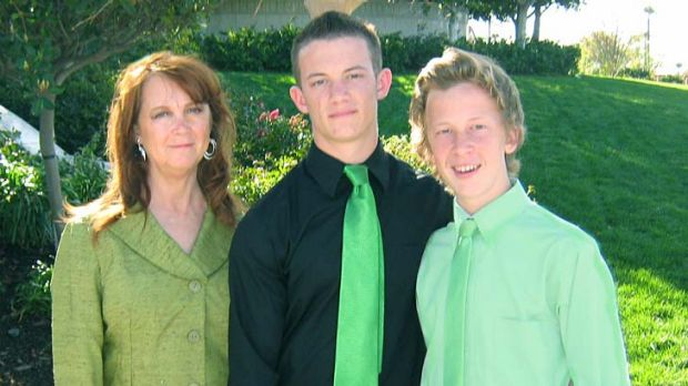 Saying goodbye ... the family will wear lime green to Melissa's memorial service.