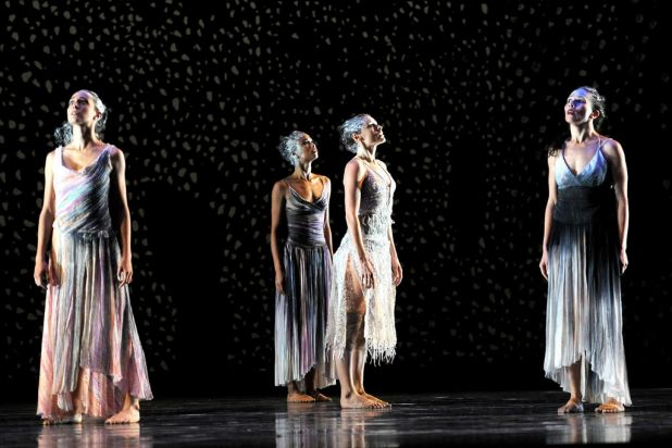 Dancers from the Australian Ballet and the Bangarra Dance Theatre rehearse the world premier of 'Infinity', the first ...