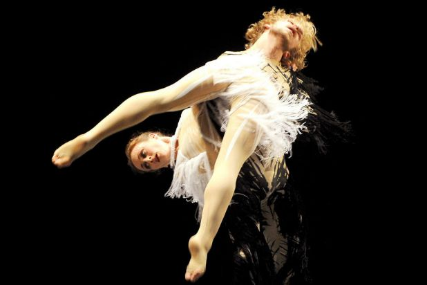 Dancers from the Australian Ballet and dance company 'Chunky Move' rehearse the world premier of 'Infinity', the first ...
