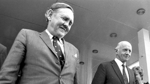 John Gorton and William McMahon ... after a lacklustre election result,  Prime Minister John Gorton faced his first ...