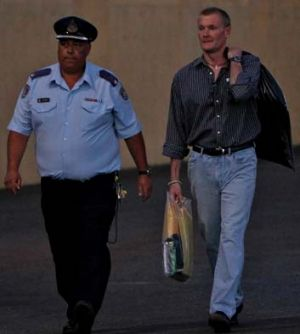 Gordon Wood walks free from the Goulburn Correctional Centre.