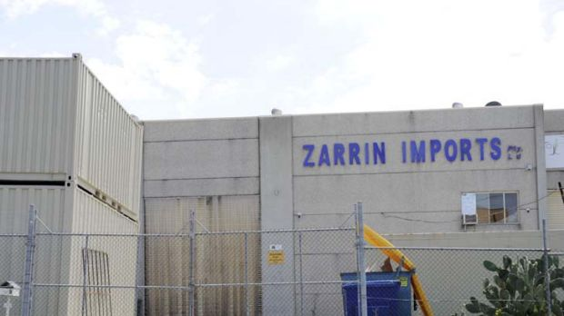 Scrutinised ... the Ausie Foods factory, formerly Zarrin Imports.
