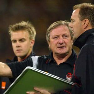 Sheedy and Matthew Drain at Essendon.