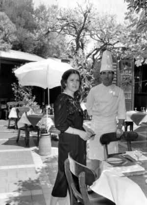 O'Donnell with chef Jacques Reymond in 1984.