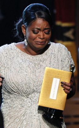 Octavia Spencer is overwhelmed by her win for best actress in a supporting role for <i>The Help</i>.