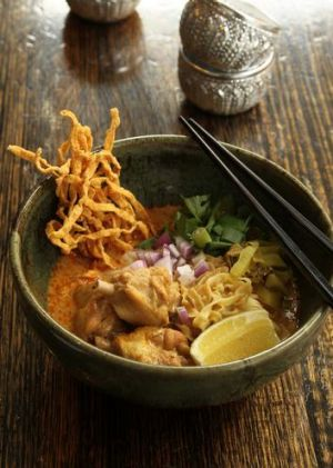 A khao soi dish ($12) from Chat Thai in Haymarket.
