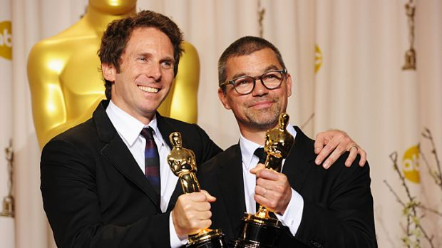 Oscar winners: Australian Kirk Baxter (left) and Angus Wall.