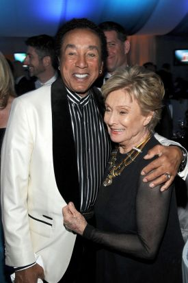 Singer Smokey Robinson and actress Cloris Leachman attend the 20th Annual Elton John AIDS Foundation Academy Awards ...