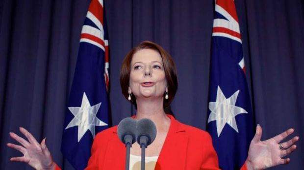 ''I intend to be a very forceful advocate of the government's policies, so settle in.'' … Julia Gillard addressing ...