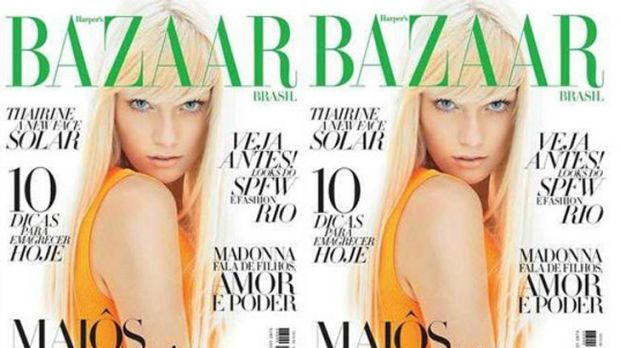 Industry veteran ... Thairine Garcia on the cover of Brazilian Harper's Bazaar.