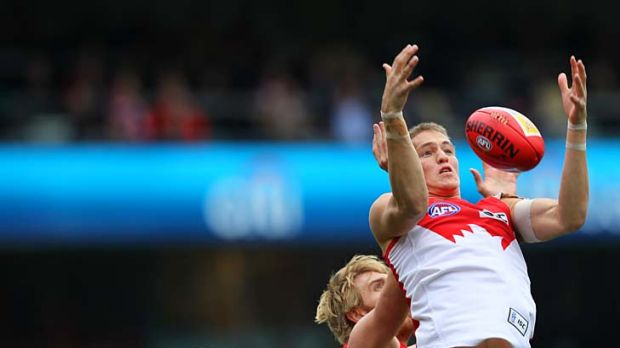 Swan Sam Reid is one of the youngsters of whom much is expected up forward.