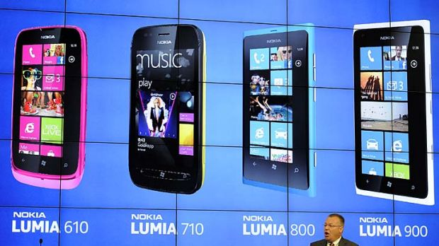 President and CEO of Nokia Stephen Elop gives a press conference to presents Nokia's new mobile phones in Barcelona.