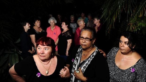 Years of grief ... Lily Arthur, of Sydney, Heather Shearer, of SA, and Leonie Pope, of Brisbane have travelled to ...