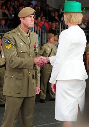 Decorated ... Ben Roberts-Smith is awarded the Victoria Cross by the Governor-General last year.