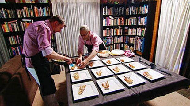 Peter and Gary get to work on My Kitchen Rules.