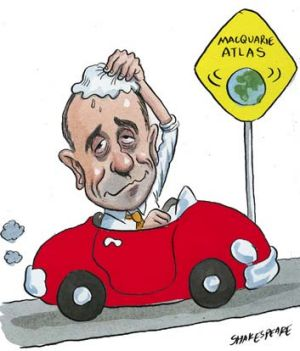 Relieved man … Peter Trent can breathe easy with the refinancing deal done. <em>Illustration: John Shakespeare</em>
