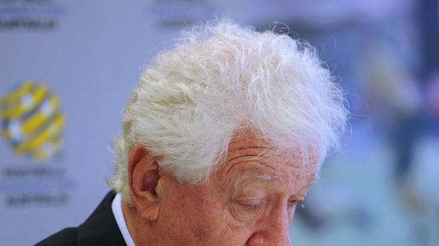 Football Federation Australia chairman Frank Lowy has been needled by Clive Palmer for weeks.