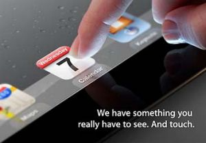 The invitation Apple issued for the iPad 3 launch.