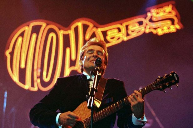 Davy Jones, lead singer of the sixties rock band The Monkees, performs in 1997.