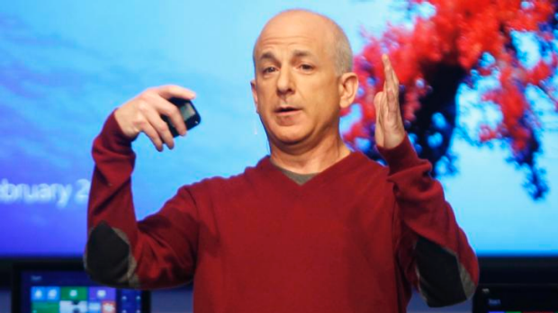 President of Windows and Windows Live Division Steven Sinofsky attends the Windows 8 Consumer Preview presentation at ...