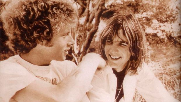 A young Chris Hillman (left) with his country-rock ''brother'' Gram Parsons.