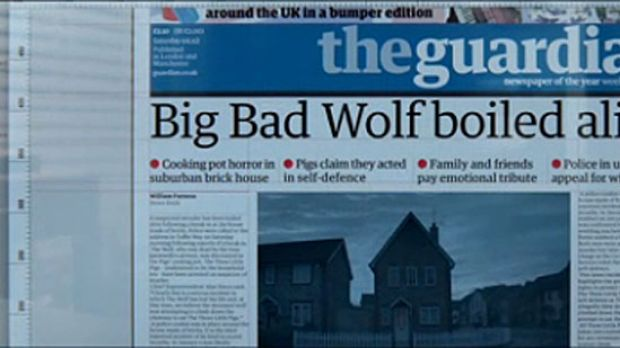 Big, big wolf? ... The Guardian imagines what today's headlines would look like.