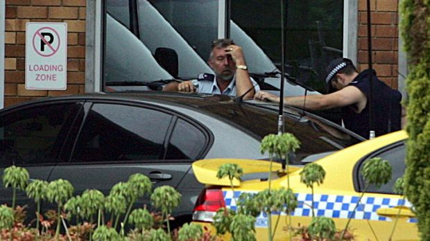 Tragedy ... colleagues of Senior Constable David Rixon left stunned by the shooting.