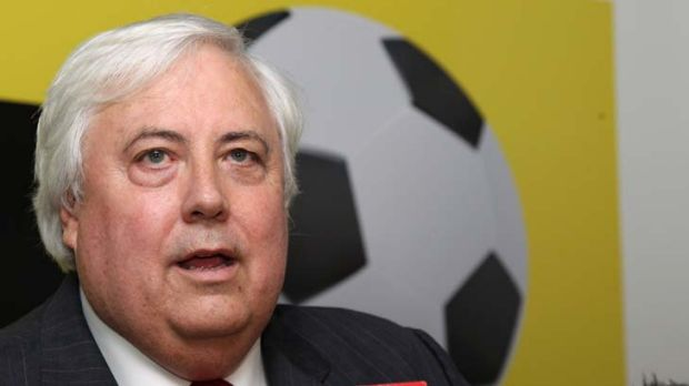 Drama ... Clive Palmer at his Thursday announcement.
