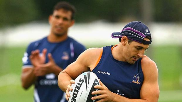 Slippery: Storm fullback Billy Slater is the danger man for Melbourne, but Canberra is well aware of that.