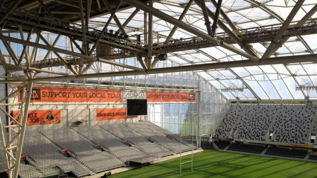 Forsyth Barr Stadium in Dunedin has a roof similar to the one envisioned for the new Canberra Stadium.